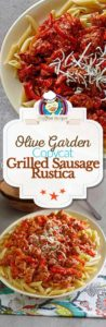 grilled sausage and peppers rustica photo collage