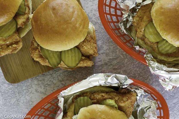 chick fil a sandwiches