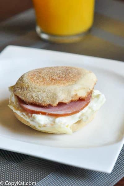 egg white delight breakfast sandwich