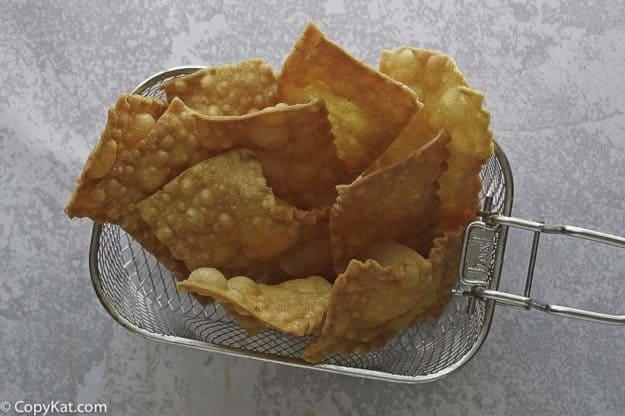 homemade deep fried pasta chips