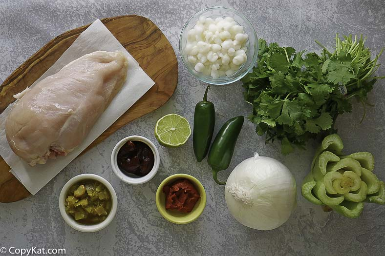 chicken, cilantro, celery, onions and more to make southwest chicken soup