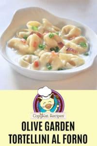 homemade Olive Garden Tortellini al Forno in a serving dish