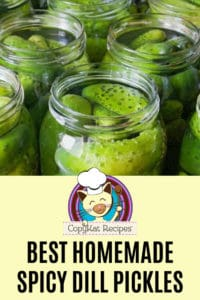 jars of homemade spicy dill pickles