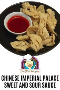 homemade sweet and sour sauce and wonton strips