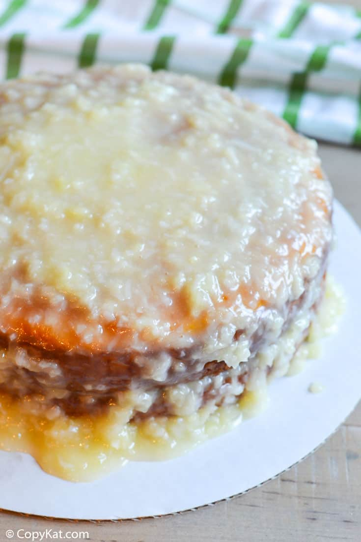 Mountain Dew Cake with Pineapple Coconut Icing