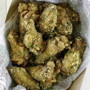 homemade copycat wingstop garlic parmesan wings