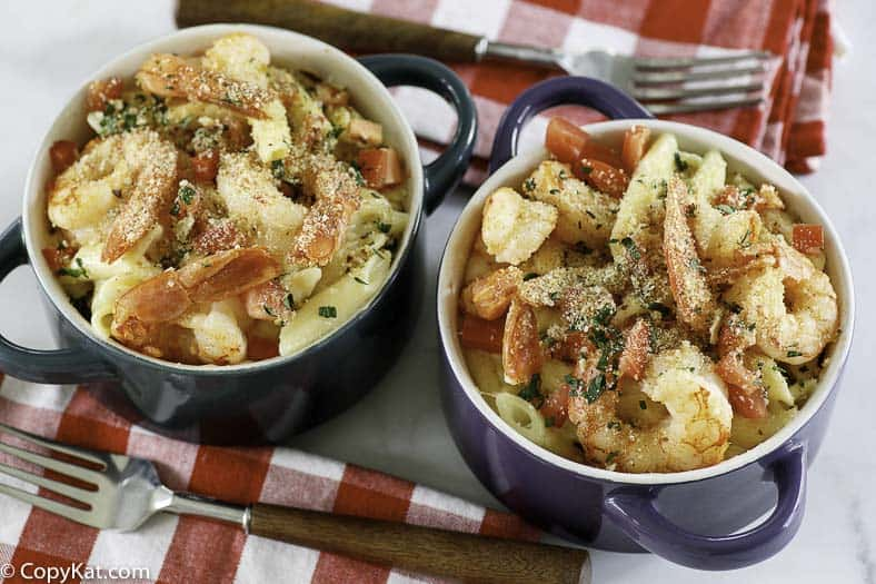 baked Parmesan shrimp and pasta