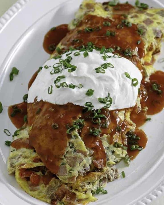 a homemade IHOP Colorado Omelette