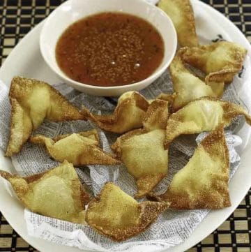 wontons filled with cream cheese