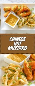 bowls of Chinese hot mustard