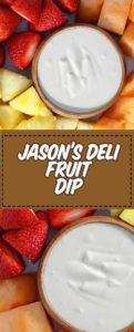 fresh cut fruit and homemade fruit dip