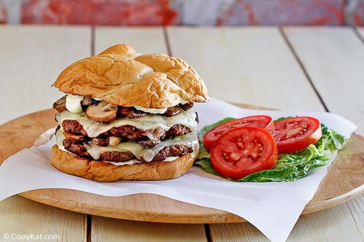 homemade Smashburger truffle mushroom swiss burger