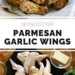 Copycat Wingstop Garlic Parmesan Chicken Wings