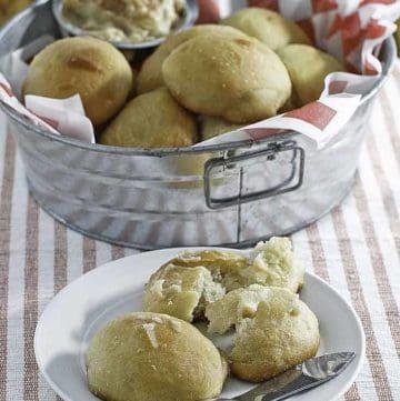 yeast rolls with honey cinnamon butter