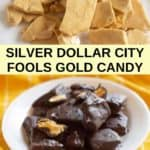 Silver Dollar City Fools Gold Candy photo collage