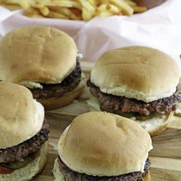 homemade mcdonald's hamburgers and french fries