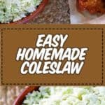 Homemade coleslaw photo collage