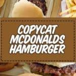 Mcdonald's hamburger recipe