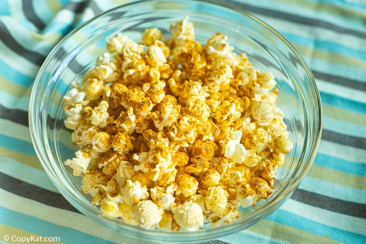 a bowl of curry popcorn