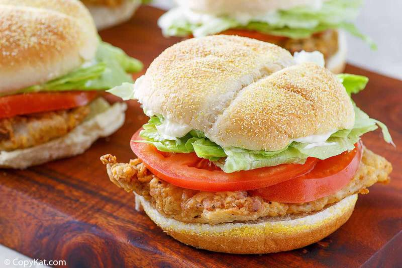 chicken fried steak sandwich with lettuce and tomato