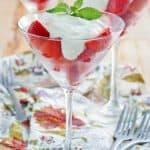 Three strawberry romanoff desserts