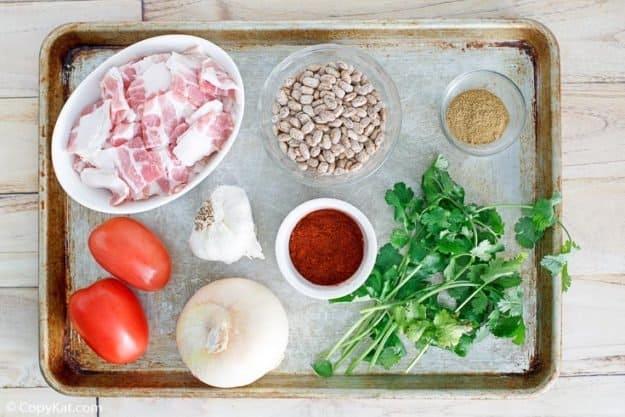 frijoles a la charra (charro beans) ingredients