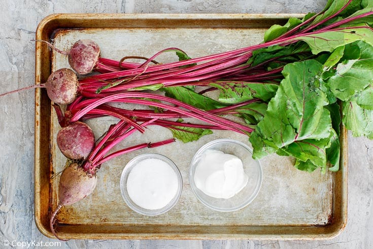 Roasted beets sour cream salad ingredients
