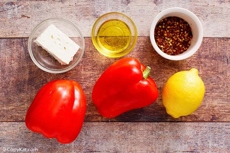 Roasted Red Pepper Dip Ingredients