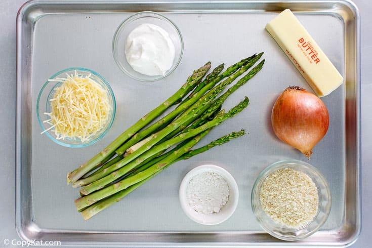 Swiss asparagus casserole ingredients