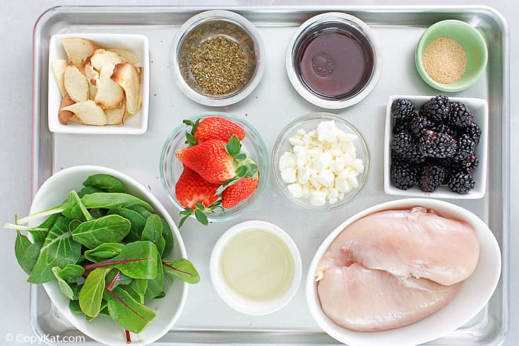 summer berry chicken salad ingredients