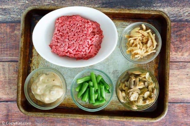 hamburger green bean casserole ingredients