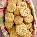 a basket of crunchies (oatmeal coconut cornflake cookies)