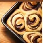 cinnamon rolls in a baking pan