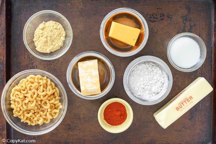 Homemade Stouffers mac and cheese ingredients