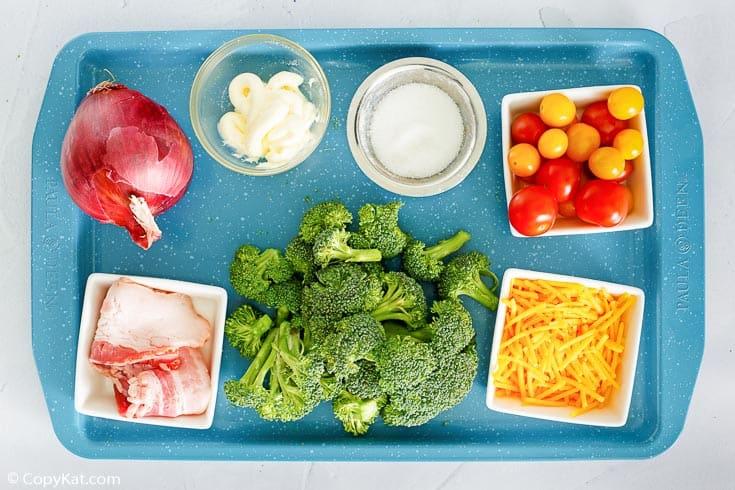 ingredientes de ensalada de brócoli