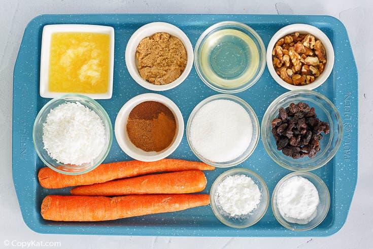 Cracker Barrel carrot cake ingredients