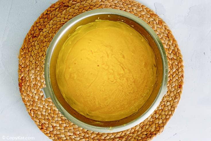 golden pound cake batter