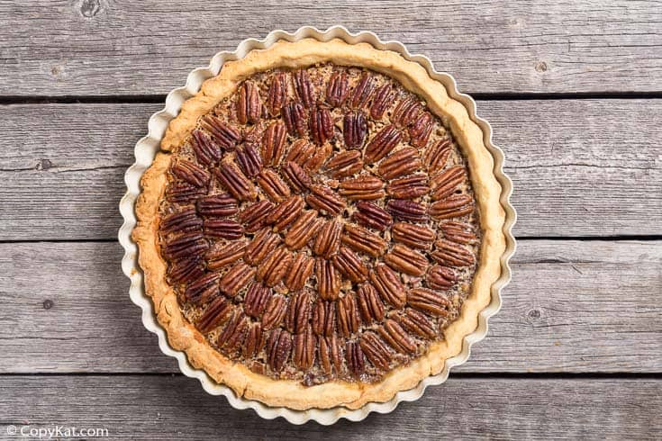 a whole pecan pie