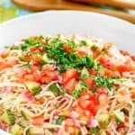 cold spaghetti pasta salad