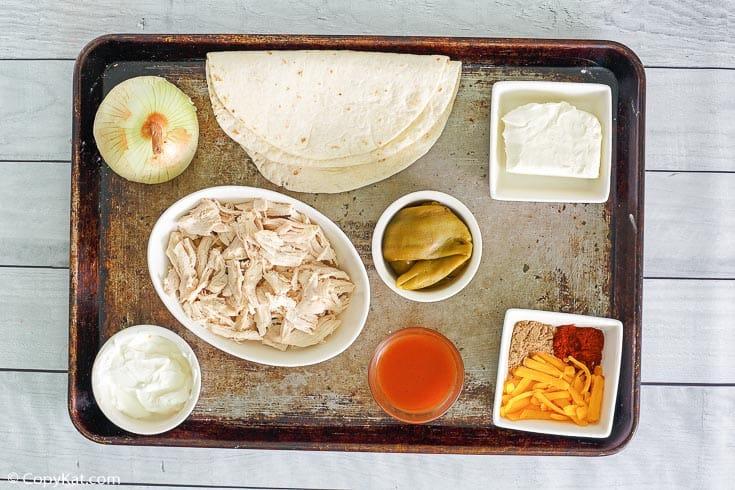 queso crema pollo enchiladas ingredientes