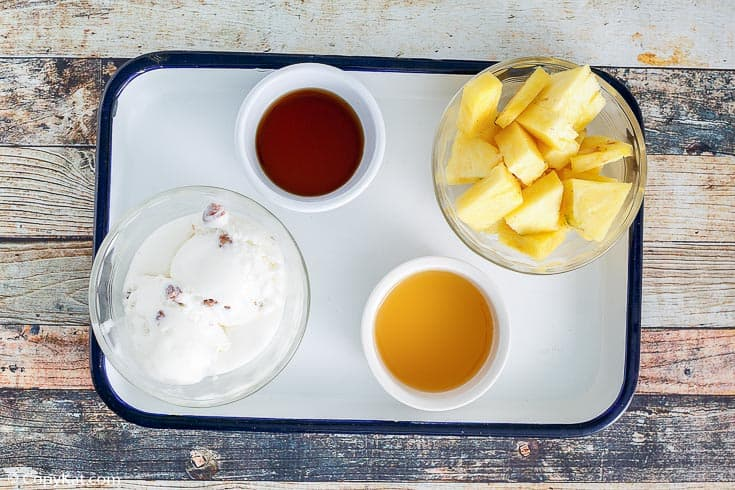 Dole whip with rum float ingredients