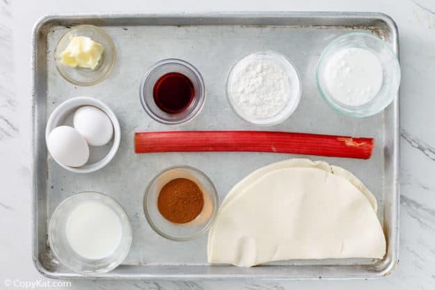 rhubarb custard pie ingredients