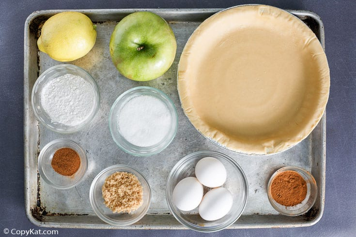 Dutch apple pie ingredients