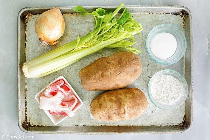 Hot German potato salad ingredients