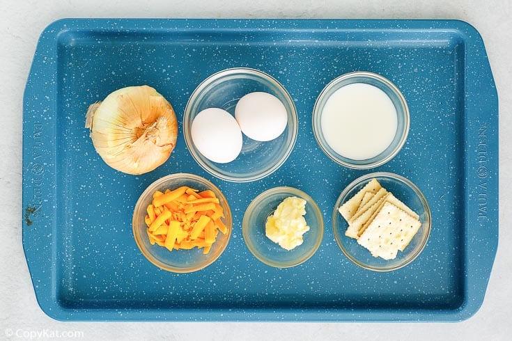 Ingredientes del pastel de cebolla Vidalia