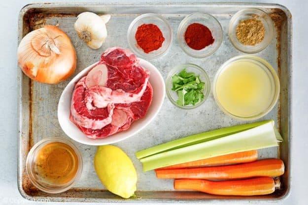 braised beef shank with vegetables ingredients