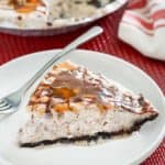 a slice of homemade Chili's Mighty Ice Cream Pie