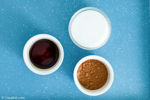 Homemade Hershey's chocolate syrup ingredients