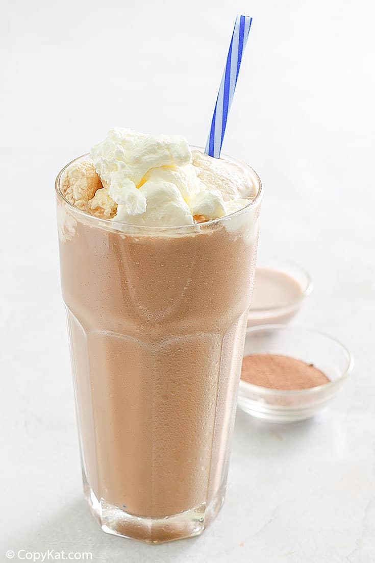 iced mocha with whipped cream in a tall glass