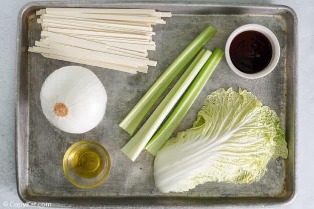 Panda Express Chow Mein ingredients